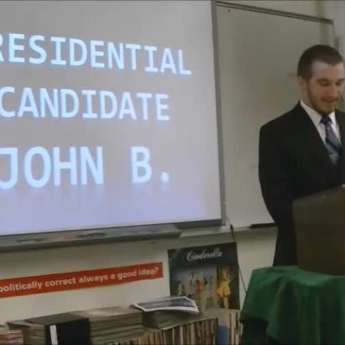 John Brittner Presidential Speech