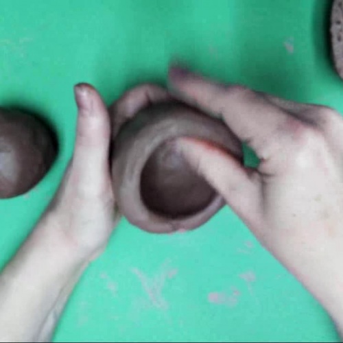 Making Clay Pinch Pots