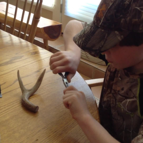 making an antler necklace