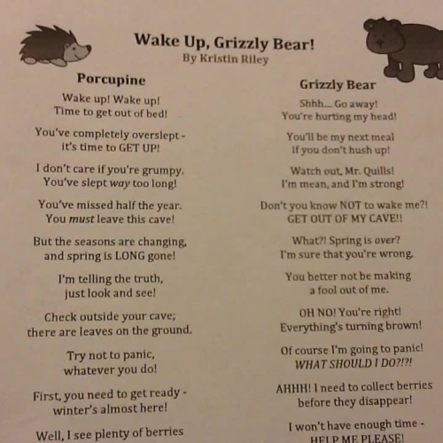 Wake Up, Grizzly Bear Poem