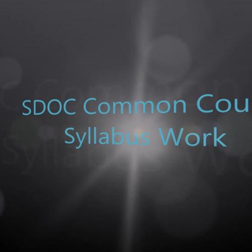 SDOC Common Course Syllabus Work