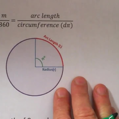 Finding radius of a circle from arc length