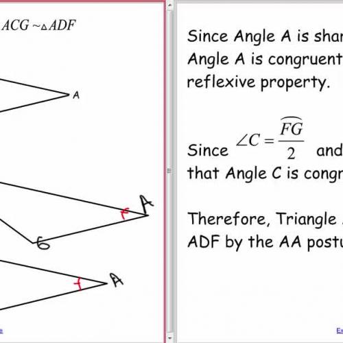 Proofs V (Similarity proofs)