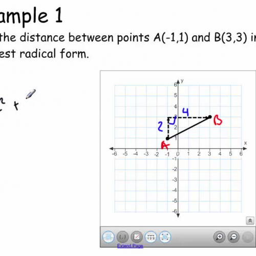Regents review IV (Finding distance without the distance formula)