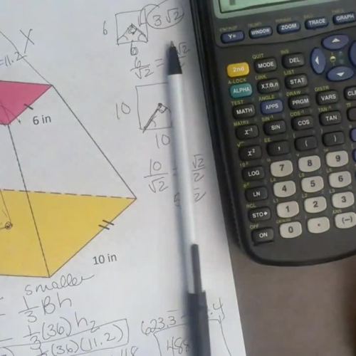 Finding Volume Truncated Pyramid