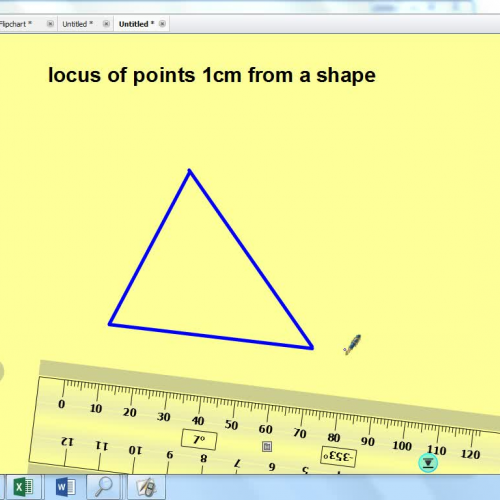 locus around a shape