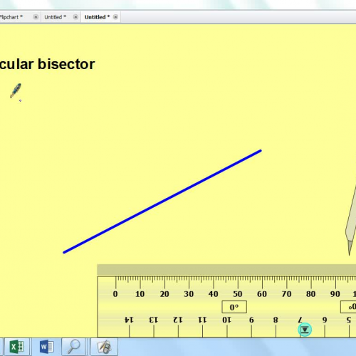 perpendicular bisector of a line