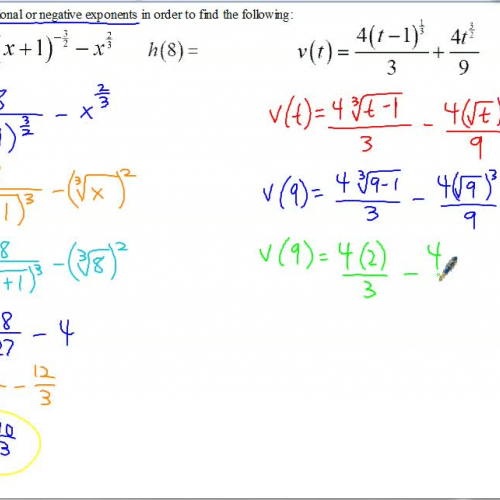 AP Calculus Notes Exponents, Radicals, and Simplifying