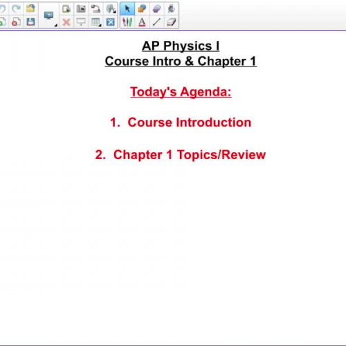 AP Physics 1 Course Intro & Chap 1
