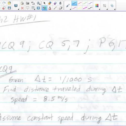AP Physics 1 Ch2 HW#1