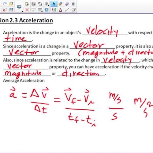 AP Physics 1 2.3 2.4
