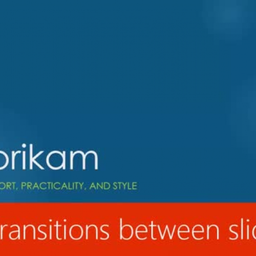 Apply transitions between slides