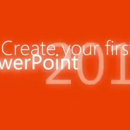 Start using PowerPoint