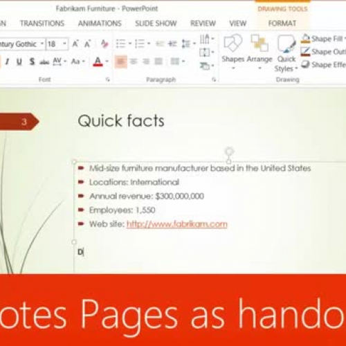 Print Notes Pages as handouts