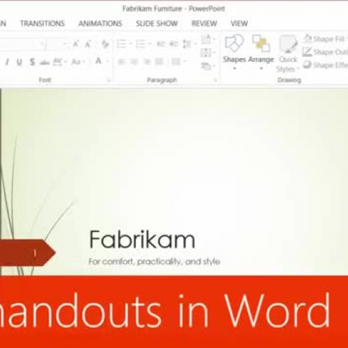 Print handouts in Word