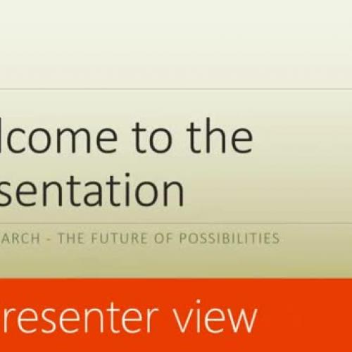 Use Presenter view