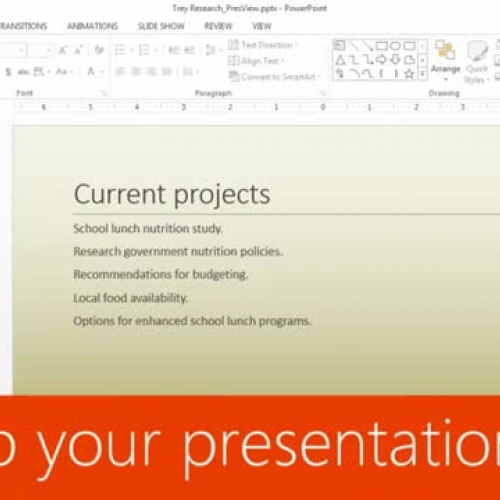 Set up your presentation