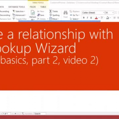 Create a relationship with the Lookup Wizard