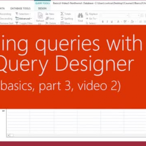 Building queries with the Query Designer