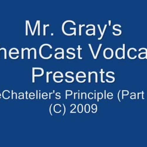 LeChatelier's Principle Part 1 of 4