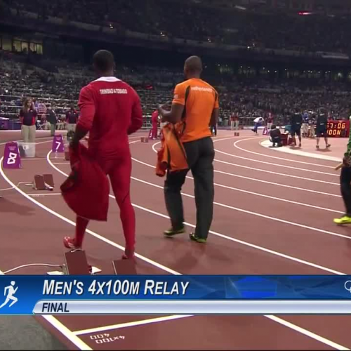 Jamaica Break Mens 4x100m World Record