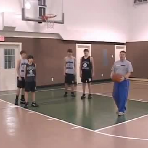 Warm-up Stretches and Drills for Youth Basketball  - Box Out Drill