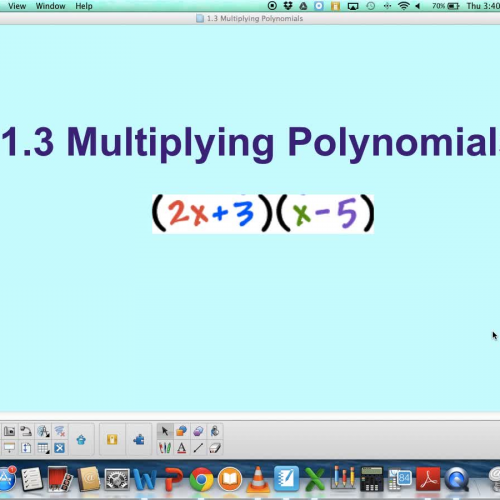 1.3 Multiplying Polynomials