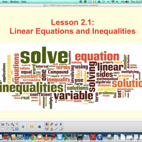 2.1 Linear Equations and Inequalities