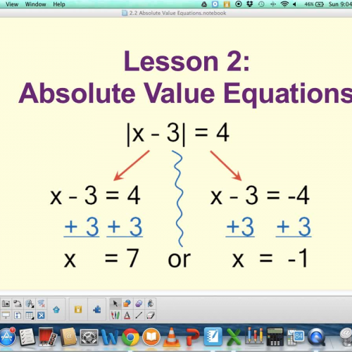 2.2 Absolute Value Equations