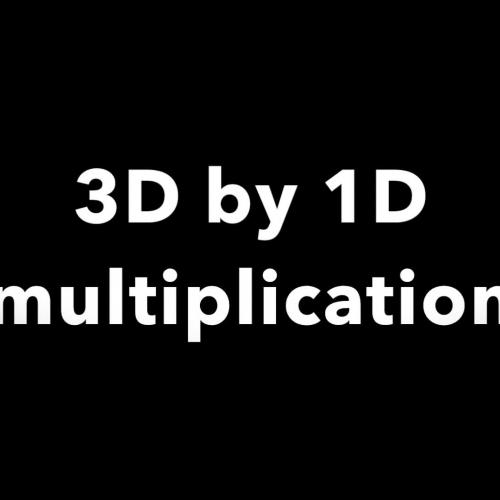 3 Digit by 1 Digit Multiplication