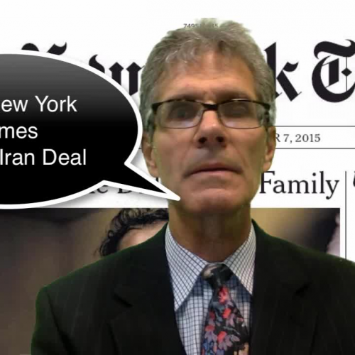 NYT Editorial on the Iran Deal