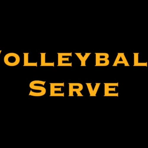 Centerville Jr. High Volleyball Serve