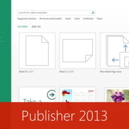 Whats New in Publisher  2013