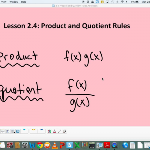 2.4 Product and Quotient Rules