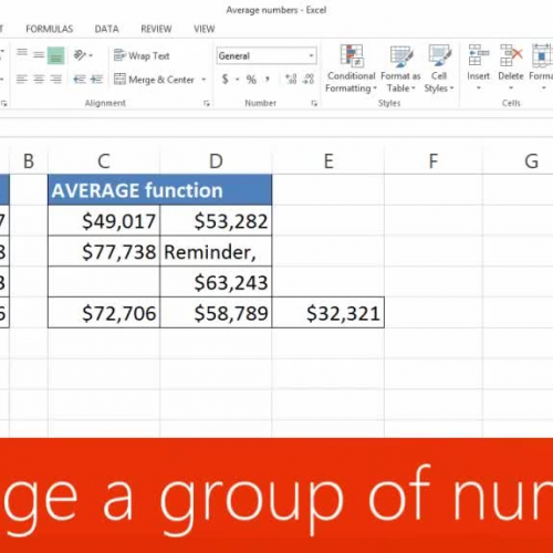Average a group of numbers