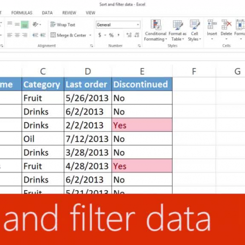 Sort and filter data