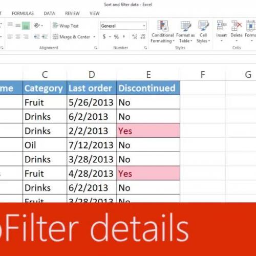 AutoFilter details