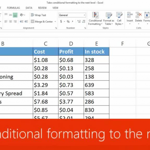 Take conditional formatting to the next level