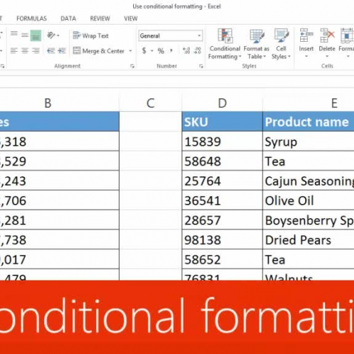 Use conditional formatting