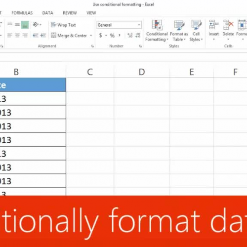 Conditionally format dates