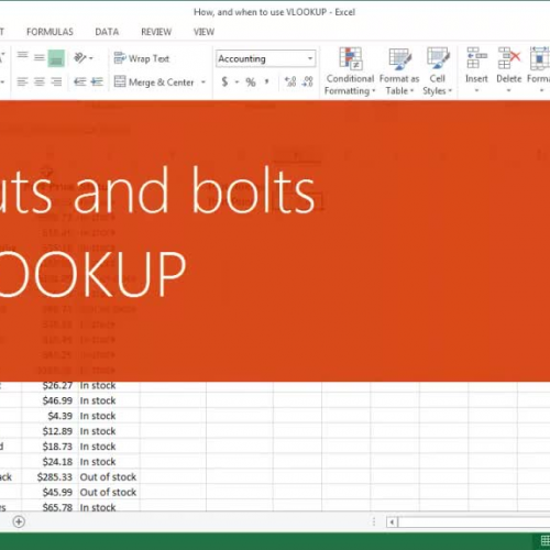 The nuts and bolts of VLOOKUP