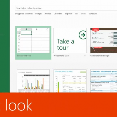 A first look at Excel 2013