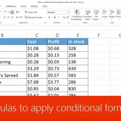 Use formulas to apply conditional formatting