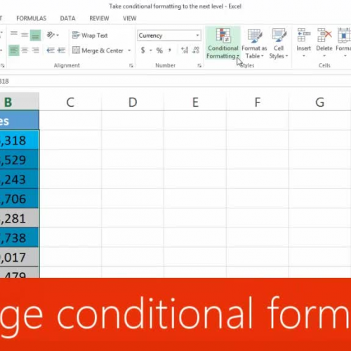 Manage conditional formatting