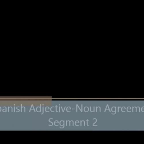 Spanish Adjective-Noun Agreement - Segment 2