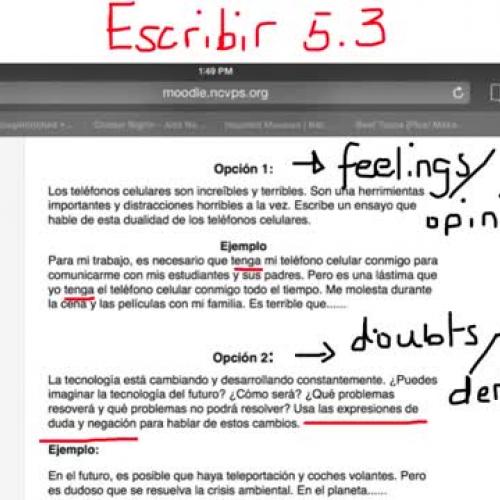 Escribir 5.3