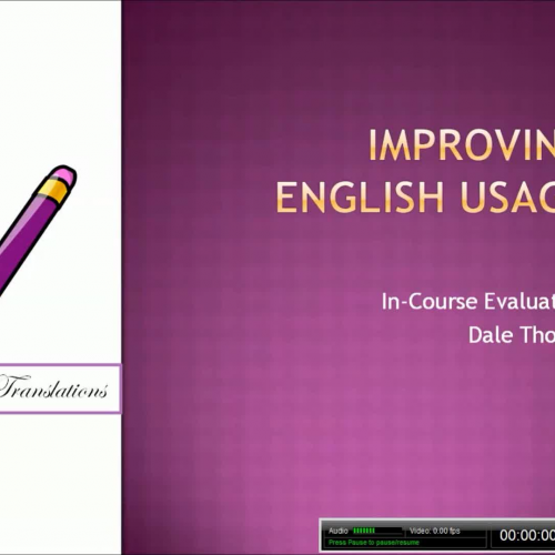 Evaluation of a Module on Improving English Usage