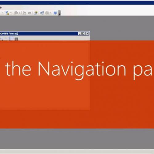 The Navigation pane