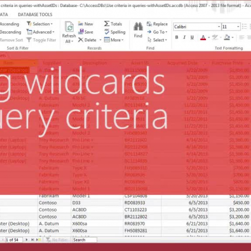 Using wildcards in query criteria