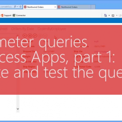 Parameter queries in Access Apps, part 1: Create and test the query